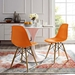 Truss Modern Classic Side Chair in Orange