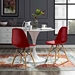 Truss Modern Classic Side Chair in Red