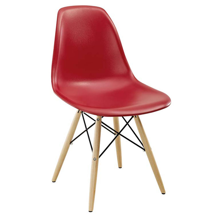 Modern Dining Chairs - Truss Red Side Chair