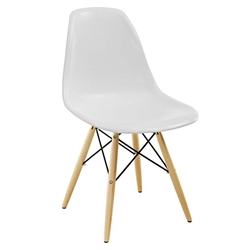 Modern Dining Chairs - Truss White Side Chair