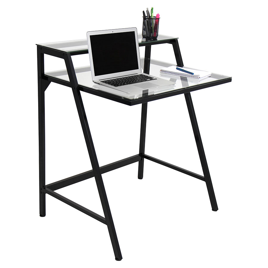 Turing Black Contemporary Desk