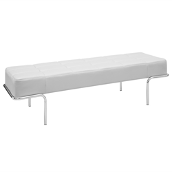 Tuscan White Modern Bench