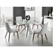 Uber White, Chrome and Glass Small Modern Dining Table