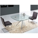 Uber White, Chrome and Glass Contemporary Dining Table