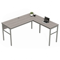 Underwood Modern Ash Gray L-Desk