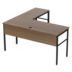 Underwood Modern Natural Walnut L-Desk