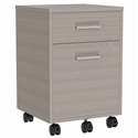Underwood Modern Ash Gray Mobile File Cabinet