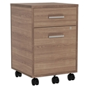 Underwood Modern Walnut Mobile File Cabinet