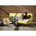 Unfurl Contemporary Sleeper Sofa in Mustard Fabric