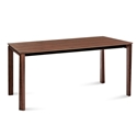 Universe-160 Contemporary Dining Table Walnut by Domitalia