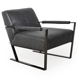 Universe Modern Charcoal Genuine Leather Chair