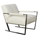 Universe Modern White Genuine Leather Chair