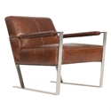 Universe Modern Cognac Genuine Leather Chair