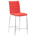 Uppsala Modern Tangerine Counter Stool by Zuo