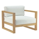 Upton Modern Teak Outdoor Arm Chair