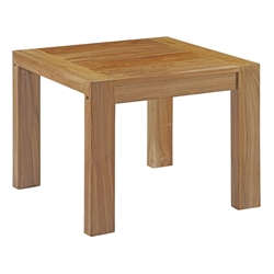 Upton Modern Teak Outdoor End Table