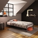 Uptown Modern Twin Platform Bed in Magnetite
