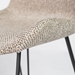 Uriah Gray Fabric + Black Powder Coated Steel Modern Counter Height Stool - Fabric Detail