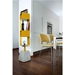 Ursa Mustard Contemporary Swivel Shelves