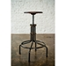 V19C Seared Oak Wood + Matte Black Steel Modern Industrial Adjustable Height Stool - Lifestyle