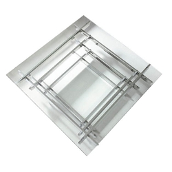 Valburn Modern Glass + Stainless Steel Coffee Table