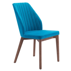 Valencia Blue Modern Dining Chair