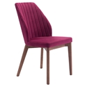 Valencia Red Modern Dining Chair