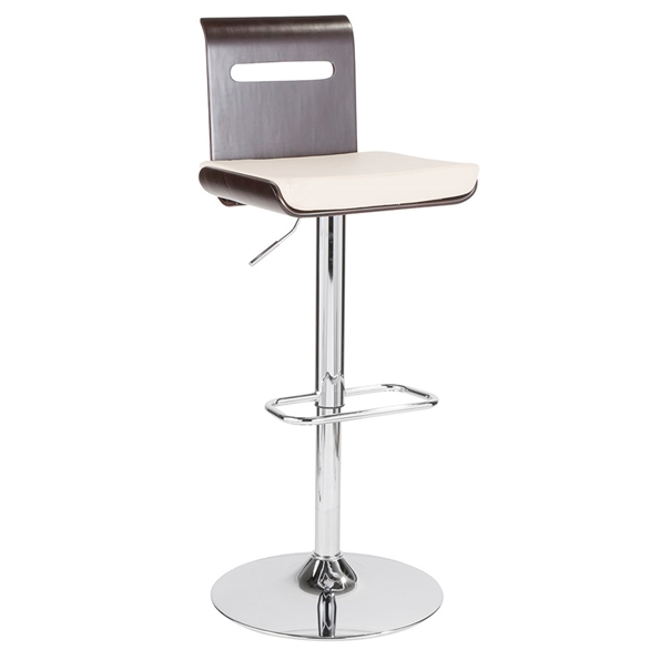 Valerie Modern Adjustable Stool in Wenge + White