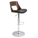 Valkyrie Black Modern Adjustable Stool