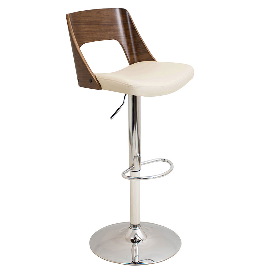 Valkyrie Cream Modern Adjustable Stool