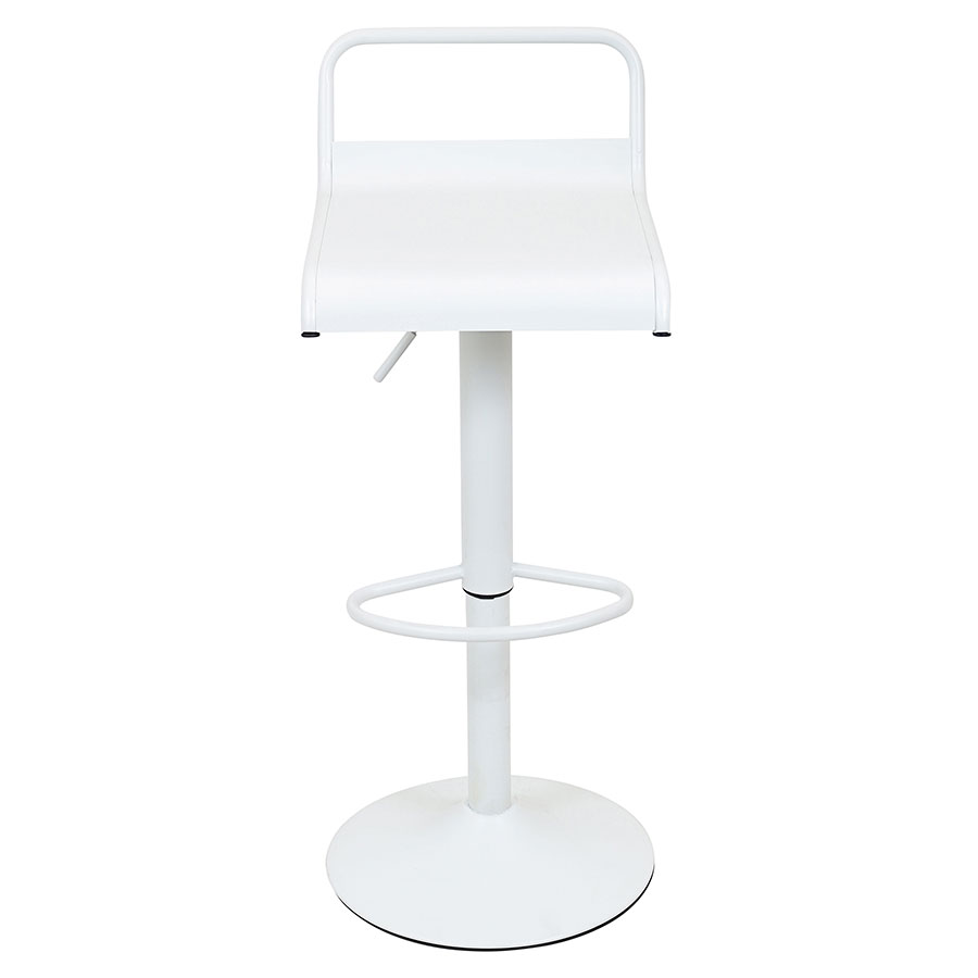 Vallejo White Contemporary Adjustable Stool