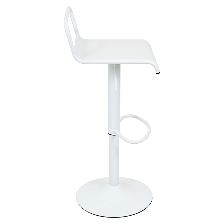 Vallejo White Metal Modern Adjustable Stool