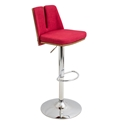 Valto Red Modern Adjustable Stool