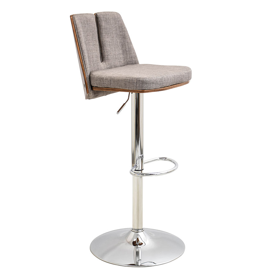 Valto Taupe Modern Adjustable Stool