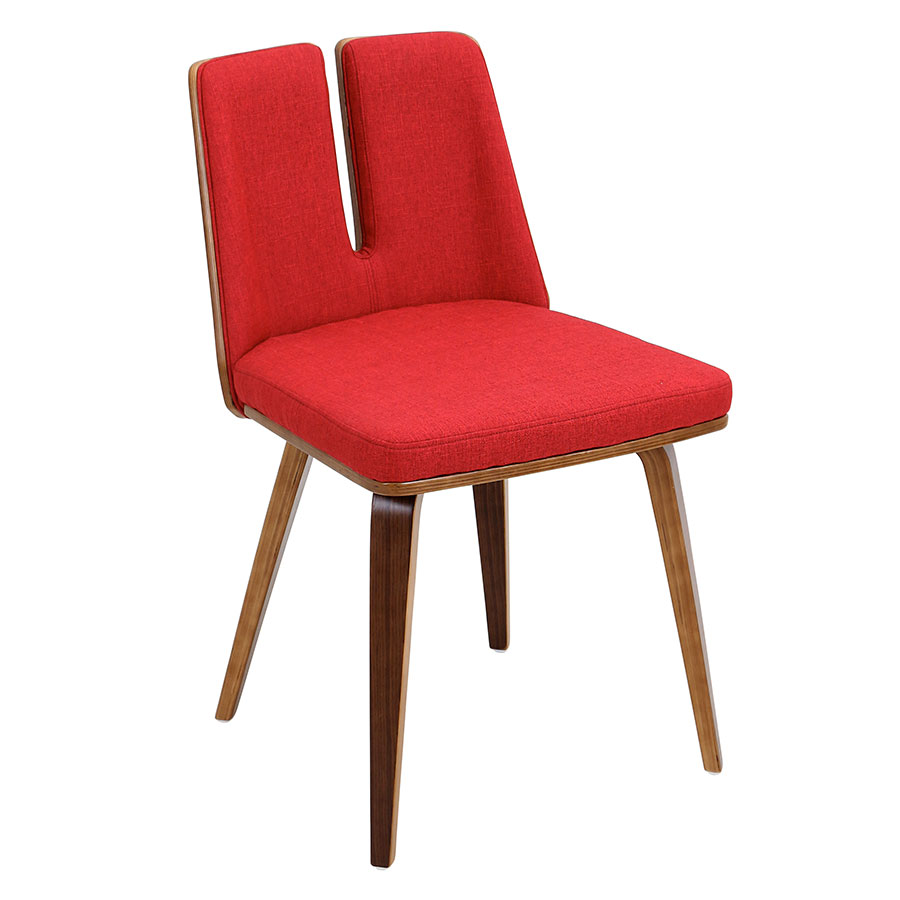 Modern dining chairs valto red side chair eurway for Red modern dining chairs