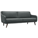 Van Nuys Modern Gray Fabric Sofa
