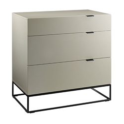 Vander Gray + Black Modern Tall Dresser Chest of Drawers