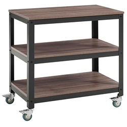 Vanguard Modern Steel + Walnut Industrial Low Shelf