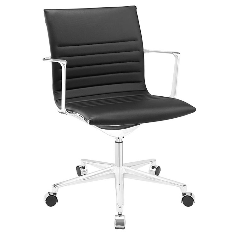 Call To Order Vanguard Black Mid Century Modern Office Chair