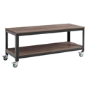 Vanguard Modern Steel + Walnut Industrial TV Stand