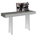 Vanquish Gray Top + Glass Base Modern Console Table