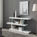 Vanquish Modern Clear Glass + White Modern Bookcase - Lifestyle