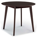 "Vantage 35"" Round Modern Cappuccino Dining Table"