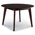 "Vantage 45"" Round Modern Cappuccino Dining Table"