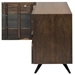 Vargas Seared Oak Horizontal Grain + Black Iron Large Modern Sideboard + TV Stand - Side Right Side Open
