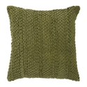 "Vasanth 18"" Green Modern Pillow"