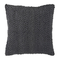 "Vasanth 22"" Charcoal Modern Pillow"