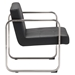 Vasco Black Leatherette Modern Arm Chair