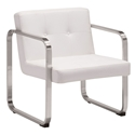Vasco White Modern Arm Chair