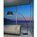 Veera Black Modern Arc Floor Lamp